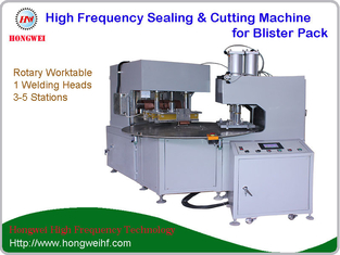 Rotary High Frequency Welding Machine Sepeate Stations For Sealing / Trimming