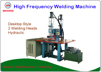High Frequency Hydraulic Double Head Welding Machine For Leather / Plastic Sheet Emboss